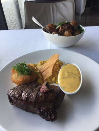 Cha Cha Char: Rump steak - $49, plus $10 roast potatoes, and $5 Bearnaise sauce