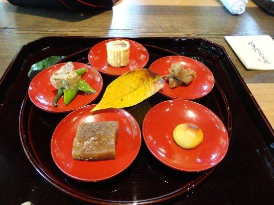 Higashimurayama, Japão: 特別昼懐石の前菜です