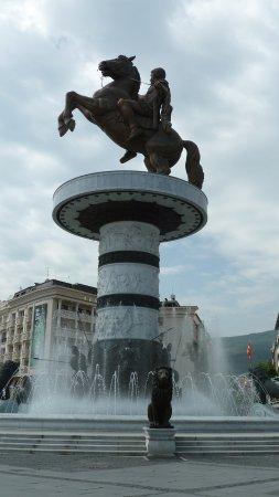 Skopje Region, Republic of Macedonia: Schön? Gigantisch? Geschmacklos?
