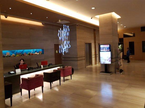 The T Hotel: reception desk ground floor