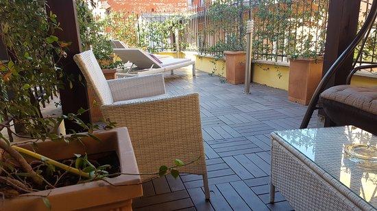 Villa San Lorenzo Maria Hotel: Terrasse privée