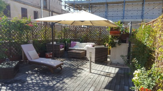 Villa San Lorenzo Maria Hotel: Terrasse sur le toit