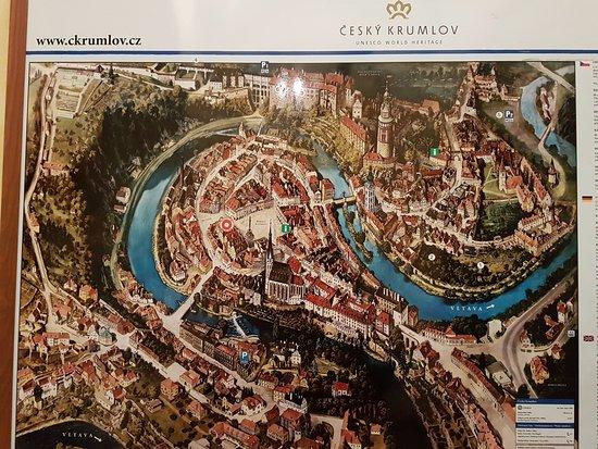 Mapa Czeski Krumlov Obrazek Zarizeni Historic Center Of Cesky