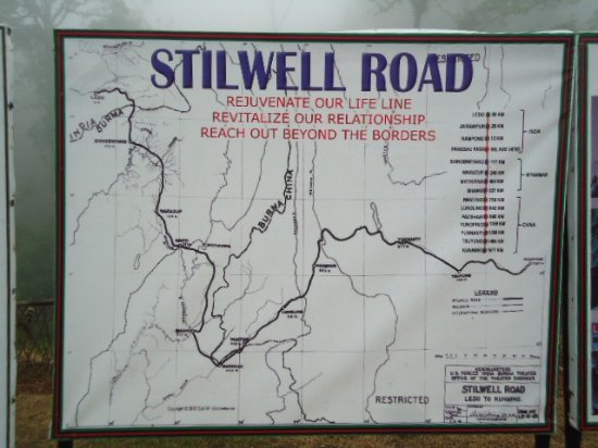 Changlang, Indien: Sketch of the Stilwell Road.
