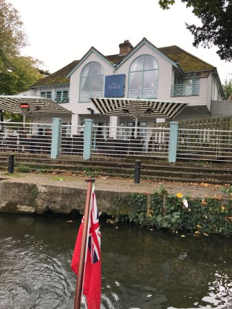 Cookham, UK: THE FERRY - as viewed from departing boat on the Thames.1