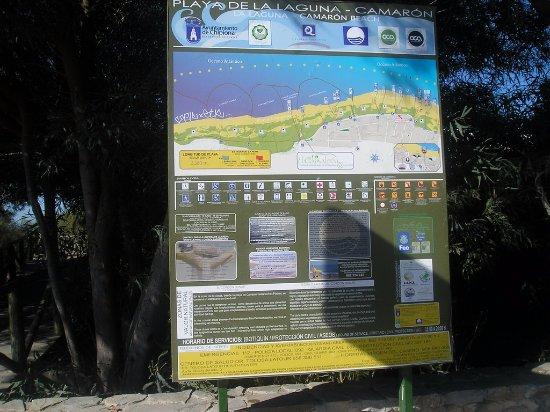 """Centro de Interpretación de la Naturaleza y El Litoral """"El Camaleón"""": cartina dove inizia la zona"""