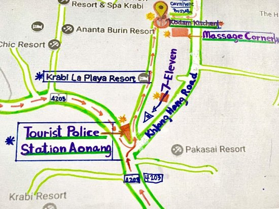 Looking for Tourist Police Station So many and Laplaya resort spa