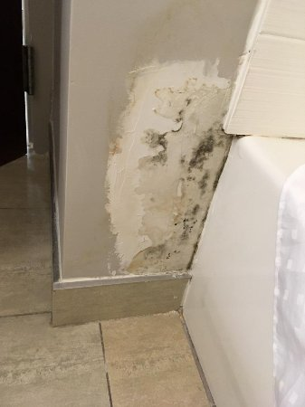 Holiday Inn Express & Suites Newport News: patch job in need of finishing