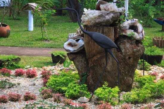 Mahambo, Madagaskar: amazing roundabout with black heron