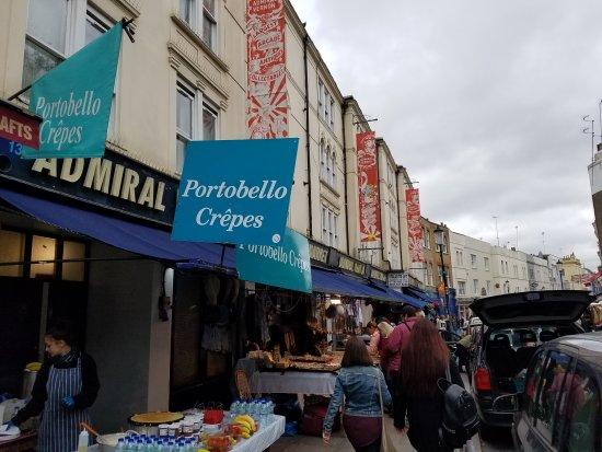 Hilton London Kensington: Portobello Market street stalls