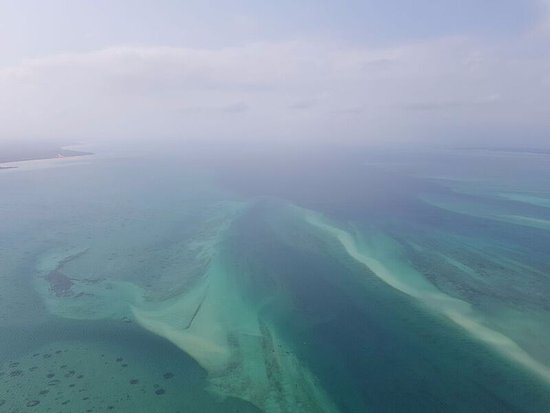 Benguerra Island, Mozambik: Bazaruto Archipelago from the air