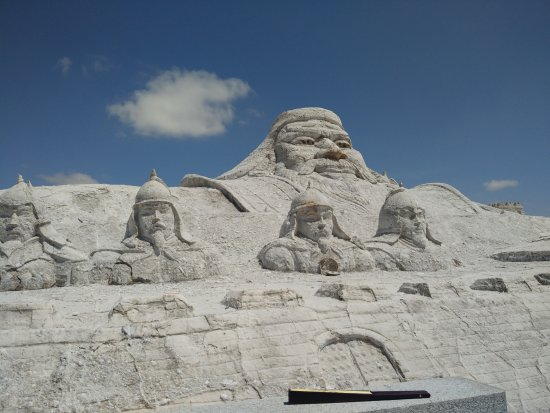 Golmud, China: 鹽雕塑