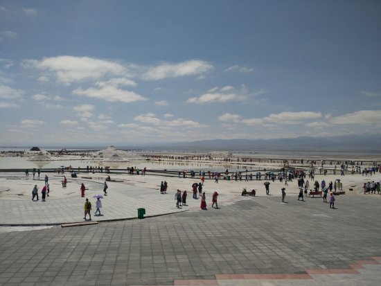 Golmud, China: 鹽湖廣場