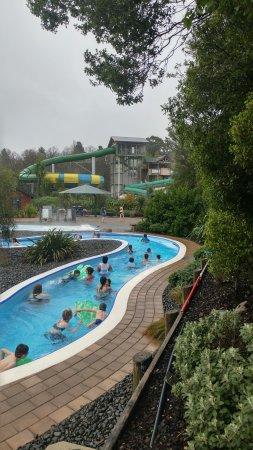 Hanmer Springs, Nya Zeeland: Lazy river and slides