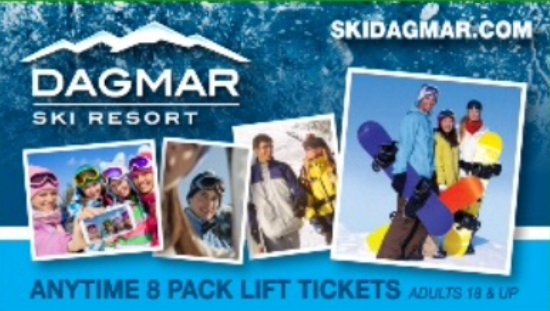 Uxbridge, Canada: Anytime 8Pack Lift Tickets for Adults