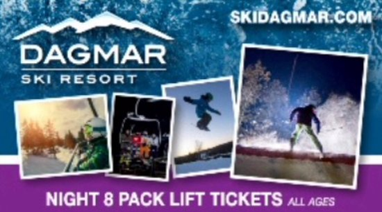 Uxbridge, Canada: 8 Pack Night Lift Tickets for All Ages