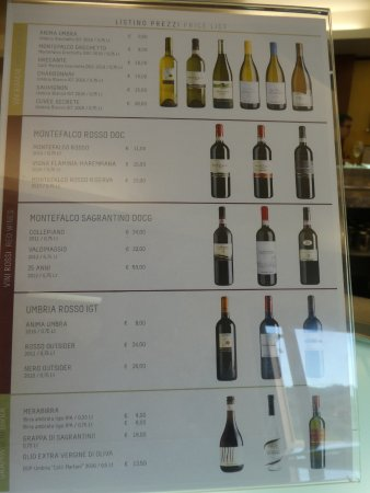 Montefalco, Italy: Wine for sale!