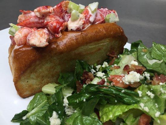 Maine lobster roll picture of allora ristorante for Fish restaurant marlborough ma