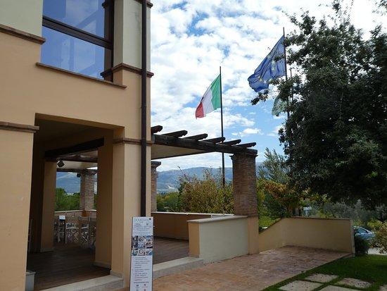 Montefalco, Italy: Cantina terrace