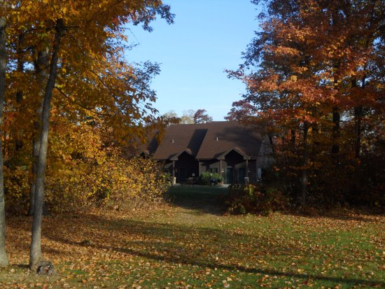 Nisswa, MN: View of Golf Villa from a Golf Hole.