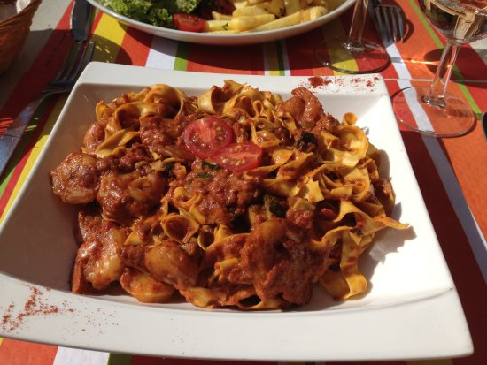 Callian, Prancis: Tagliatelle crevettes