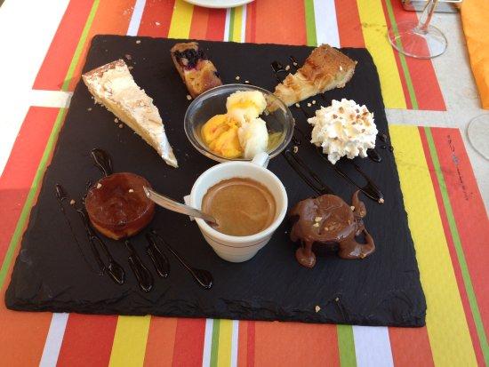 Callian, Prancis: Café gourmand