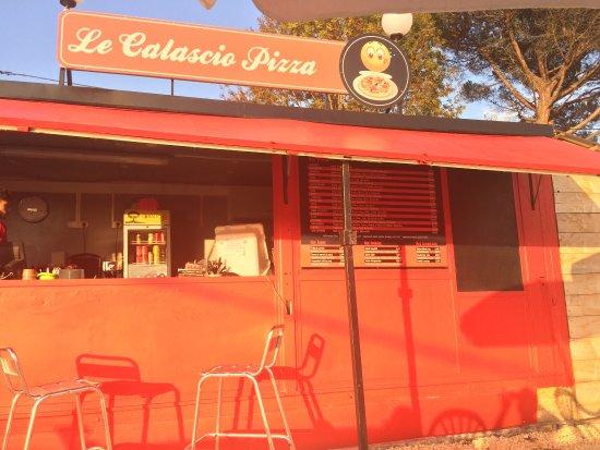 Belves, Frankrig: Le calascio pizza