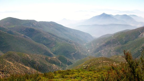 Jamul, CA: Looking south into Baja California, Mexico
