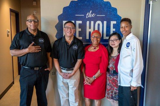 Management Team w/ Durham Mayor Pro Tempore - Picture of The Pie