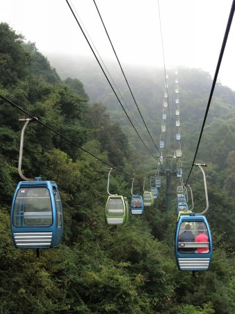 Xinning County, China: Lang Mountain cable cars