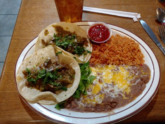 Cambria Cafe: CHILI VERDE TACO LUNCH SPECIAL