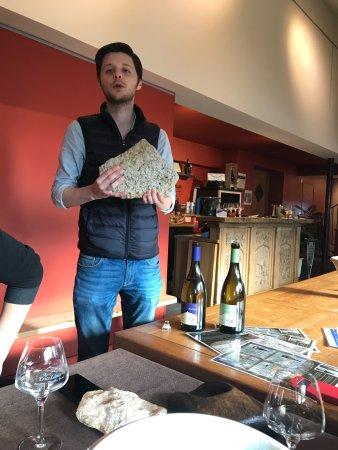"""Cave Eric Louis - Vins de Sancerre: Pierre explains how the """"terroir"""" the earth effects the taste of the wine"""