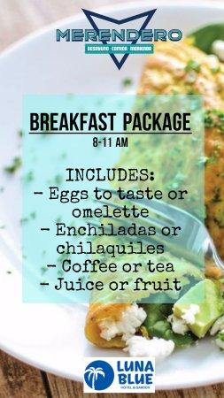 Luna Blue Hotel: Breakfast incuded