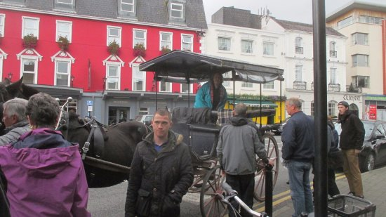 Arbutus Hotel: Jaunting cart in front of the hotel