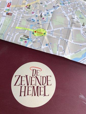 De Zevende Hemel : DeZevende Hemel menu cover and map location Bruges Belgium