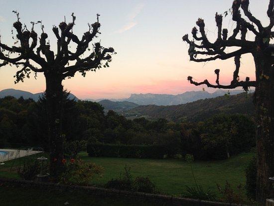 Uriage les Bains, ฝรั่งเศส: Vue de la terrace mi Octobre