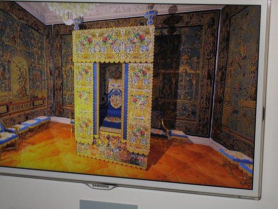 Luneville, Francja: la chambre de la Duchesse (superbe animation 3D)