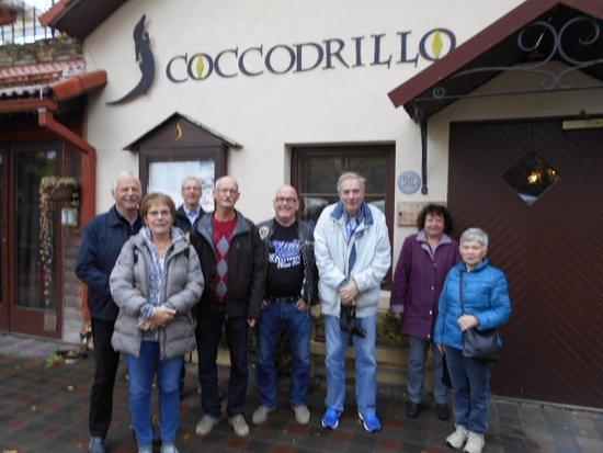 Viimsi, Estland: Resegrupp samlad innan lunchen på restaurangen.
