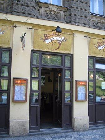 Bohemia Bagel Lazenska : Easy to find storefront