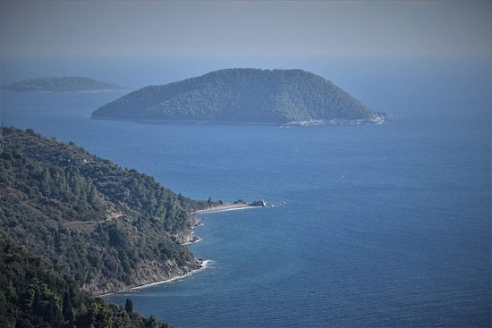 Glossa, Grécia: View from Agnanti and to Agnanti
