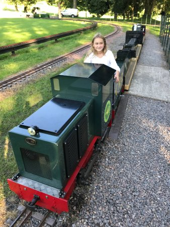 Merthyr Tydfil, UK: Having fun on the miniature train!
