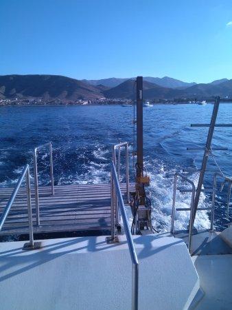 La Azohia, Spanien: Rampa de acceso una vez acabada la inmersion