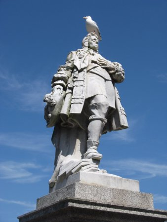 Statue of King William III, Prince of Orange, at Brixham