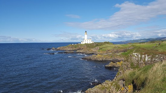 Turnberry, UK: from the 9th tee looking at the lighthouse