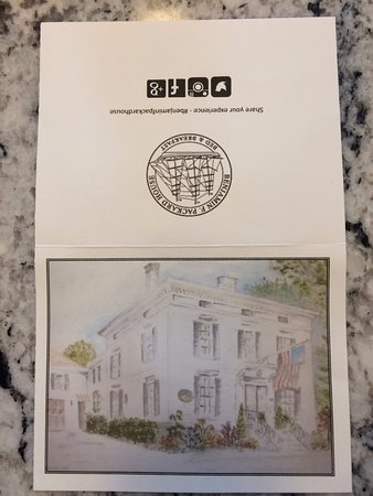 Benjamin F. Packard House: A nice notecard when you arrived ...