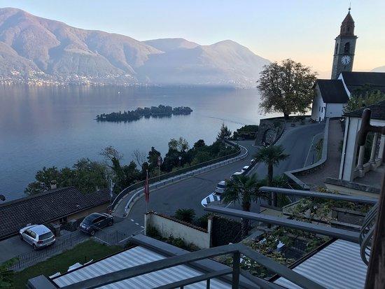 Ronco sopra Ascona, Швейцария: aussicht vom balkon im hotel Ronco