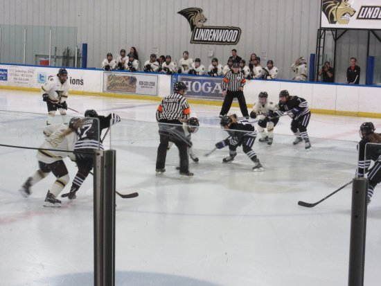 Wentzville, MO: Lindenwood Ice Arena-Women's Hockey Team Opening Faceoff