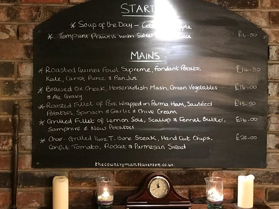 Staverton, UK: Specials Board
