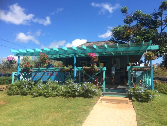 Cute Outside Dining Area Picture Of Little Fish Coffee Poipu