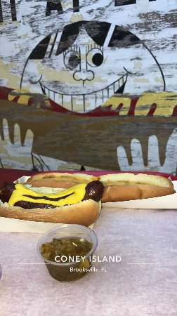 Coney Island Hot Dog Brooksville
